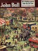 Featured Metal Prints - John Bull 1931 1930s Uk Elephants Metal Print by The Advertising Archives