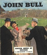 Soccer Drawings Prints - John Bull 1946 1940s Uk Football Print by The Advertising Archives