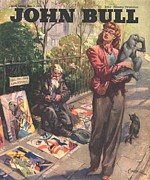 Sidewalk Drawings Acrylic Prints - John Bull 1946 1940s Uk  Pavement Acrylic Print by The Advertising Archives