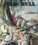 1940Õs Art - John Bull 1946 1940s Uk Picnics Birds by The Advertising Archives