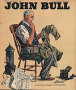 Featured Acrylic Prints - John Bull 1946 1940s Uk Tailors Acrylic Print by The Advertising Archives