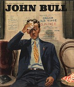 1940Õs Prints - John Bull 1946 1940s Uk Tired Exhausted Print by The Advertising Archives