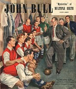 Soccer Drawings Prints - John Bull 1947 1940s Uk  Arsenal Print by The Advertising Archives