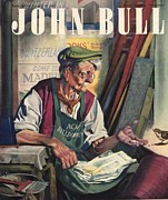 1940Õs Art - John Bull 1947 1940s Uk Birds Feeding by The Advertising Archives