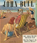 Vacations Drawings Prints - John Bull 1947 1940s Uk Holidays Print by The Advertising Archives