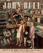 Nineteen-forties Drawings - John Bull 1947 1940s Uk Sweet Shops by The Advertising Archives