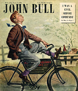 Featured Metal Prints - John Bull 1948 1940s Uk Bicycles Bikes Metal Print by The Advertising Archives
