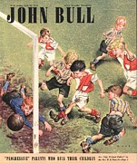 Soccer Drawings Prints - John Bull 1948 1940s Uk Football Print by The Advertising Archives