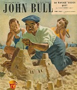 Vacations Drawings Prints - John Bull 1948 1940s Uk Holidays Print by The Advertising Archives
