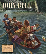 Twentieth Century Drawings Posters - John Bull 1948 1940s Uk Rowing Boats Poster by The Advertising Archives