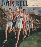 Nineteen Forties Art - John Bull 1948 1940s Uk Sports Races by The Advertising Archives