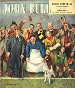Soccer Drawings Prints - John Bull 1949 1940s Uk Football Print by The Advertising Archives