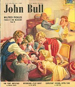 Nineteen-forties Drawings - John Bull 1949 1940s Uk Games Fighting by The Advertising Archives