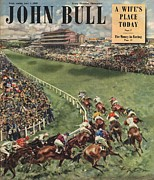 Featured Metal Prints - John Bull 1949 1940s Uk Horses Horse Metal Print by The Advertising Archives