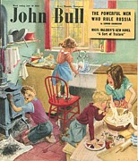 Twentieth Century Drawings Posters - John Bull 1949 1940s Uk Kitchens Poster by The Advertising Archives