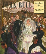 Nineteen Forties Art - John Bull 1949 1940s Uk Love Marriages by The Advertising Archives