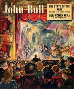 Nineteen-forties Drawings - John Bull 1949 1940s Uk Pantomimes by The Advertising Archives