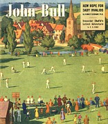 Covers Drawings Prints - John Bull 1949 1940s Uk The Villages Print by The Advertising Archives