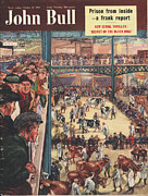 Featured Posters - John Bull 1950 1950s Uk Smithfield Poster by The Advertising Archives
