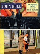 Films Drawings Framed Prints - John Bull 1950s Uk At The Films Cinema Framed Print by The Advertising Archives