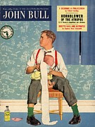 Featured Metal Prints - John Bull 1950s Uk Babies Fathers Metal Print by The Advertising Archives