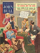 Featured Art - John Bull 1950s Uk Birthdays Magazines by The Advertising Archives