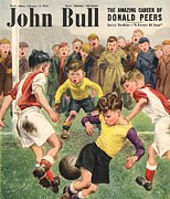Soccer Drawings Prints - John Bull 1950s Uk Football Children Print by The Advertising Archives