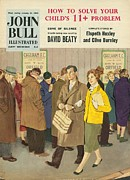 Featured Art - John Bull 1950s Uk Football Magazines by The Advertising Archives