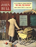 Soccer Drawings Prints - John Bull 1950s Uk Football Prams Print by The Advertising Archives