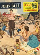 Vacations Drawings Prints - John Bull 1950s Uk Holidays Beaches Print by The Advertising Archives