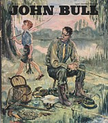 Featured Art - John Bull 1950s Uk Holidays Fishing by The Advertising Archives