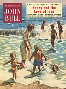 Vacations Drawings Prints - John Bull 1950s Uk Holidays Sea Water Print by The Advertising Archives