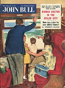 Parents Drawings Prints - John Bull 1950s Uk Holidays  Seaside Print by The Advertising Archives