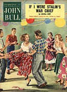 Dancers Drawings Posters - John Bull 1950s Uk  Line Country Square Poster by The Advertising Archives