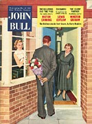 With Love Framed Prints - John Bull 1950s Uk Love Magazines Framed Print by The Advertising Archives