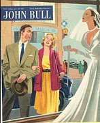 John Bull 1950s Uk Marriages Shopping Print by The Advertising Archives