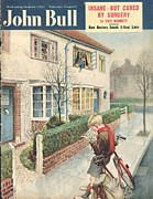 Cycling Drawings Framed Prints - John Bull 1950s Uk Newspapers Boys Framed Print by The Advertising Archives