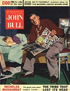 Parents Drawings Prints - John Bull 1950s Uk Reading Beds Stories Print by The Advertising Archives