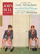 Featured Metal Prints - John Bull 1950s Uk Schools Magazines Metal Print by The Advertising Archives