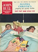 Parents Drawings Prints - John Bull 1950s Uk Sleep Reading Print by The Advertising Archives
