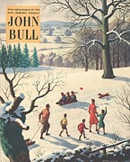 Nineteen Fifties Posters - John Bull 1950s Uk Snow Ice Winter Poster by The Advertising Archives
