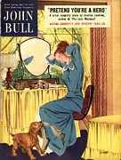 Clothes Clothing Art - John Bull 1952 1950s Uk Dogs Nylons by The Advertising Archives
