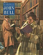 With Love Framed Prints - John Bull 1952 1950s Uk Love Libraries Framed Print by The Advertising Archives