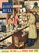 WomenÕs Art - John Bull 1953 1950s Uk Shopping by The Advertising Archives