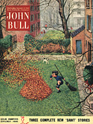 Featured Metal Prints - John Bull 1953 1950s Uk Windy Autumn Metal Print by The Advertising Archives
