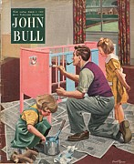 Nineteen-fifties Posters - John Bull 1954 1950s Uk Babies Painting Poster by The Advertising Archives