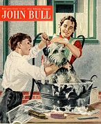 Featured Acrylic Prints - John Bull 1954 1950s Uk Dogs Washing Acrylic Print by The Advertising Archives