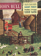Nineteen Fifties Drawings - John Bull 1954 1950s Uk Farms Farming by The Advertising Archives