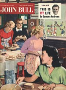 Couples Drawings Posters - John Bull 1956 1950s Uk Cooking Rugby Poster by The Advertising Archives