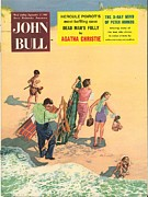 Vacations Drawings Prints - John Bull 1956 1950s Uk Holidays Print by The Advertising Archives